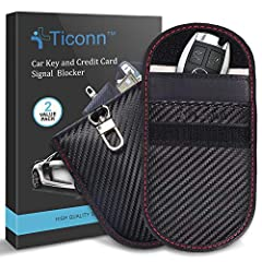 ✔️【WHY YOU MAY NEED ONE】 Get your car protected. TICONN faraday bag provides a complete signal blocker for your vehicle key fob. This prevents thieves from picking up and relaying signals from your key, to shield against break-ins and keyless ignitio...