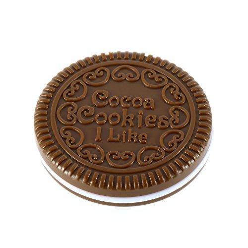Jolie Fille Chocolat Biscuit Forme Conception Cosmétique Miroir Maquillage Chocolat Peigne Café Léger