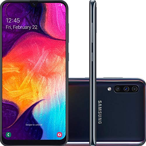 Smartphone Samsung Galaxy A50 A505GT 128GB Tela 6.4 Camera Tripla 25MP + 5MP + 8MP Preto