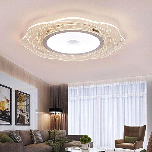 53W LED Rond acrylique ultra mince Plafonniers Transparent/Eclairage de plafond/Spots de plafond/Lampe Suspendue Ronde réglable Lumière Luminaires intérieur Pour Chambre Salon Couloirs balcon