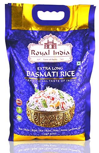 Royal India Basmati Reis Steam - Extra Long – indische Spezialitäten - Originaler Basmati Reis 1121 – Großpackung 5Kg.