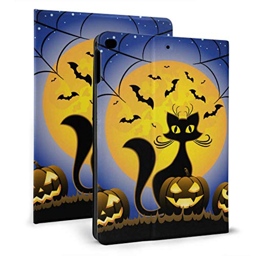 Protection Cover For Ipad Halloween Evil Cat With Pumpkin Case Ipad For Ipad Mini 4/mini 5/2018 6th/2017 5th/air/air 2 With Auto Wake/sleep Magnetic New Ipad Cover