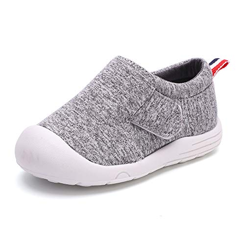peggy piggy Baby Shoes Boy&Girl Infant Sneakers Non-Slip First Walking Shoes Breathable Mesh Shoes 6 9 12 18 Months(20313-gry-17)