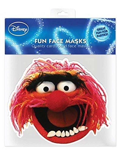 Muppets animal empire masque en carton de elizabeth iI avec trous pour les yeux et élastique 30 x 20 cm