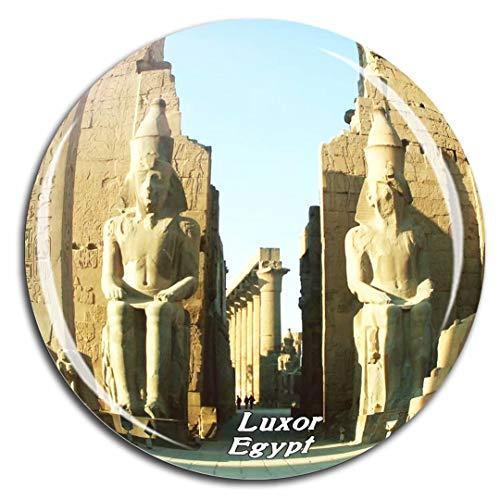 Weekino Luxor Tempel Ägypten Kühlschrankmagnet 3D Kristallglas Tourist City Travel Souvenir Collection Geschenk Starke Kühlschrank Aufkleber