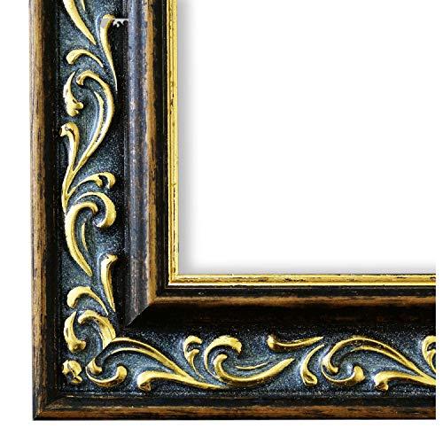 Cornice portafoto Verona Marrone Oro 4,4, Cornice a giorno con vetro museale (protezione UV 45% - antiriflesso), gold, 105 x 140 cm