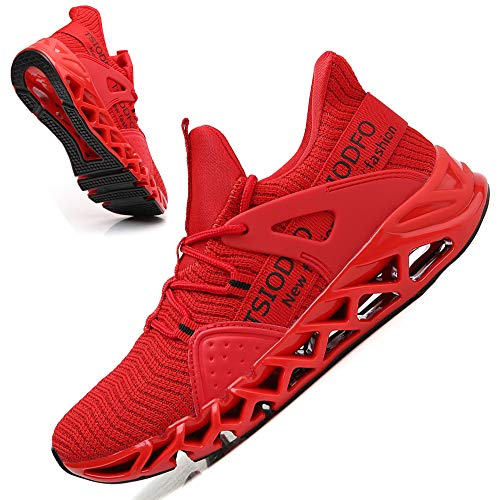 Ezkrwxn Women Sport Running Shoes Mesh Breathable Comfort Fashion Casual Tennis Athletic Walking Sneakers Gym Runner Jogging Shoes Red Size 9
