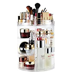 ★360 DEGREE ROTATING MAKEUP ORGANIZER: Perfectly organizes and stores your cosmetics and accessories. Easy access to all of your makeup products.It's a Perfect Christmas Gift for your friends, family members and any makeup lovers. ★ADJUSTABLE & EASY ...