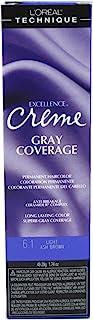 Loreal Excellence Creme Color #6.1 Light Ash Brown 1.74oz (6 Pack)