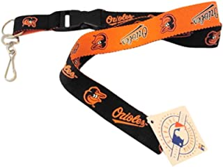 Pro Specialties Group MLB Baltimore Orioles Two Tone Lanyards, Black, One Size