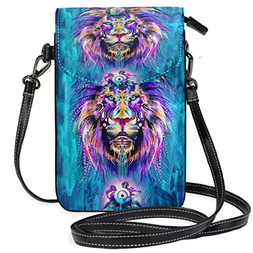 XCNGG Monedero pequeño para teléfono celular Lion Cell Phone Purse Wallet for Women Girl Small Crossbody Purse Bags
