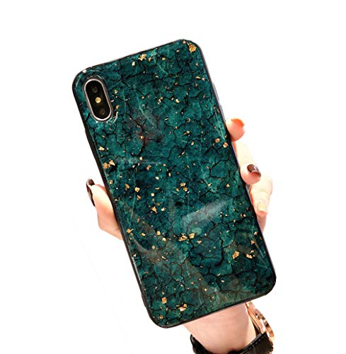 CXvwons Coque iPhone XS, Coque iPhone XS Max Élégant Bling Bling Housse de Protection Case Silicone Anti-Rayures Anti Choc Housse Étui pour Apple iPhone XS/XS Max/XR (iPhone XS Max, 7 Vert)
