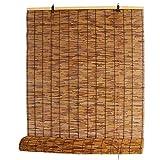 KDDFN Tende a Rullo in bambù Carbonizzazione,Tende alla Romana Tenda a Rullo Ombreggiante,Tapparelle in bambù,Traspirante,Personalizzabili,con Accessori,per Porte e Finestre (150x200cm/59x79in)