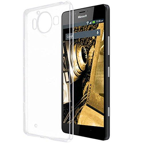 tomaxx Microsoft Lumia 950 Ultra Slim Super dünn Schutzhülle Silikon Hülle Tasche durchsichtig