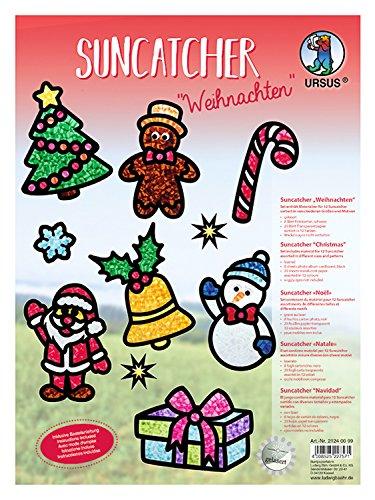 URSUS 21240099Fensterbild Juego de manualidades, sunc atcher Navidad , color/modelo surtido