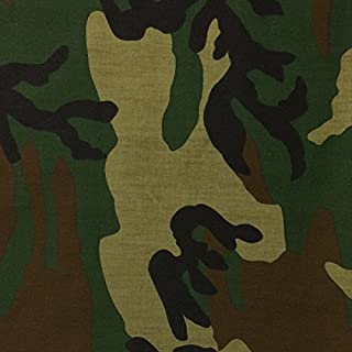 Camouflage Print Fabric Cotton Polyester Broadcloth Camo By The Yard 60