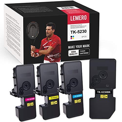LEMERO kompatibel für Kyocera TK5230 TK-5230 Multipack Tonerkartuschen für Kyocera ECOSYS M5521cdw M5521cdn P5021cdw P5021cdn (Schwarz Cyan Magenta Gelb)