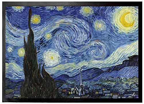 1art1 Vincent Van Gogh - Noche Estrellada, 1889 Felpudo Alfombra (70 x 50cm)