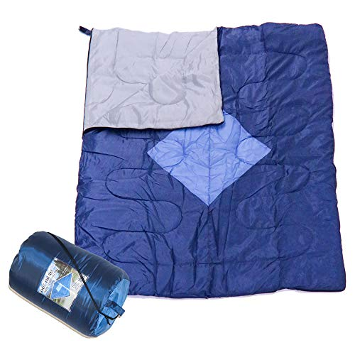 Out There! Double Envelope Sleeping Bag Lightweight Polyester Adult Sleeping Bag 2 Season Sleeping...