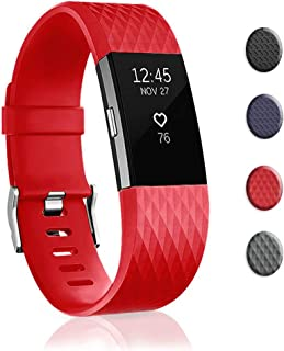 Bands Replacement Compatible for Fitbit Charge 2, Adjustable Wrist Accessories Sport Wristbands for Women&Men