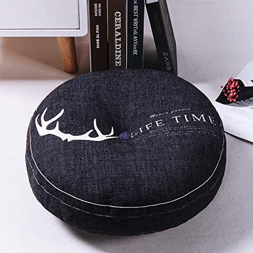 ZXCC Cotton Linen Round Seat Chair Cushion, Printing Floor Pads Thicken Patio Round Cushions Solid Pad Pillow Futon Mats For Office Outdoor Car Indoor-20 40x40cm(16x16inch)