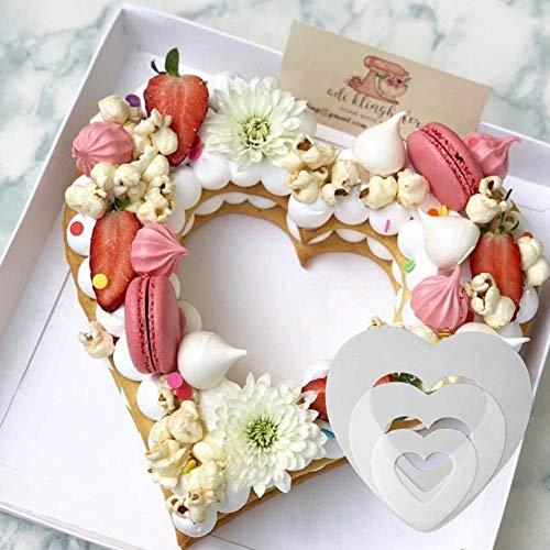 SJYM 1 stks Hartvorm Cakevorm Plastic Cake Decorating Gereedschap Zoetwaren Handige Bakken Accessoires 6/8/10/12/14 inch, 14 inch