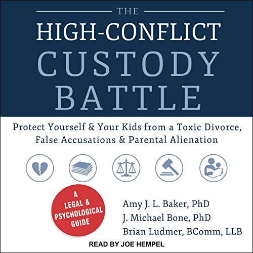 The High-Conflict Custody Battle audiobook cover art