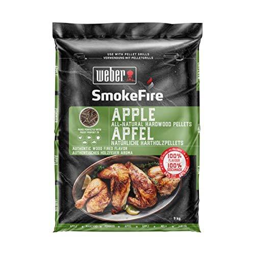 Weber Wood Apple SmokeFire-Pellets de Madera 100% Natural, 0