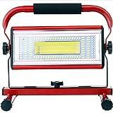 Projecteurs pour Chantier, 100W Projecteur LED Rechargeable, Super Brillante LampeChantier LED Portable pour...
