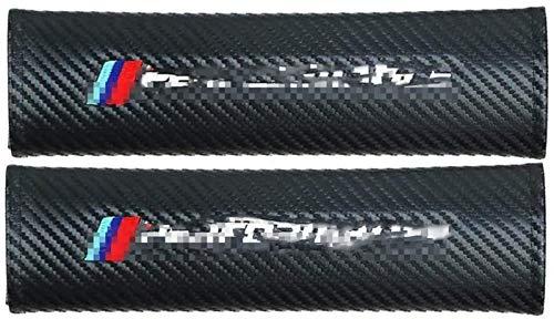 Almohadillas multifuncionales del cinturón de seguridad de los automóviles para B-M-W M Power M Performance Accesorios interiores, 2 unids de fibra de carbono Correa de cinturón de seguridad Confort L
