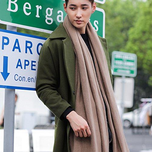 BAGEHUAN Baumwolle Schal weiblichen Winter solide Schal Dual verwenden, um eine Verdickung warmen Paar Student Kragen, Khaki
