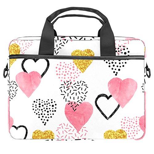 Computer Bag Suitable for MAC Computers Men and Women Handbags: 13.4 inch-14.5 inch Lightweight 15 inch Laptop Bag Business MessengerHeart