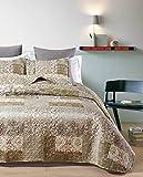 atenas home textile Colcha bouti Microfibra Estampada Modelo Annette - Cama Matrimonio 150cm - Medidas 250x270