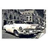 Postereck - 0462 - Oldtimer, Kuba Auto Schwarz Weiss