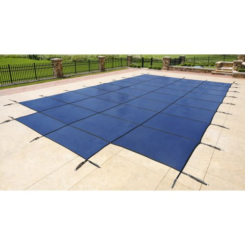 Blue Wave Rectangular Inground Pool Safety Cover - 16 ft. x 32 ft. - 4 ft. x 8 ft. Center Step