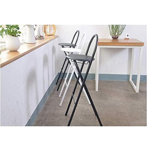 PIVFEDQX Dining Chair Bar Stool Dining Chair Foldable High Stool Portable Metal Modern Bar Chair Cafe Bench (Color : Yellow)
