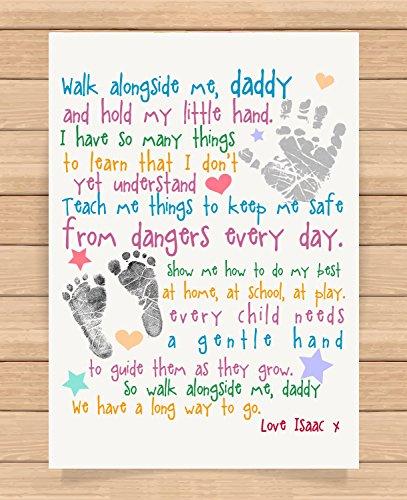 Personalised Word Art Print peter pan daughter son birthday gift keepsake card
