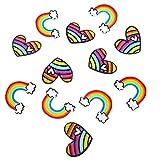 Lurrose 12 Piezas Broche Pin Set Arcoíris Corazón Diseño Solapa Pins Dibujos Animados Insignias para Ropa Bolsos...