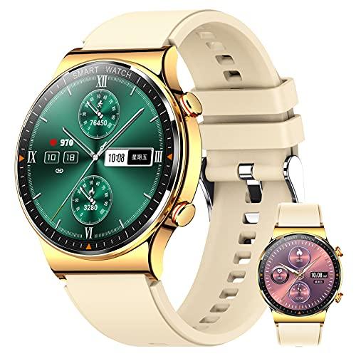 BNMY Relojes Inteligente Hombre,Smartwatch con Llamadas Pulsómetro Presión Arterial Monito De Sueño,Podómetro Pulsera Reloj Impermeable para Android iOS,C