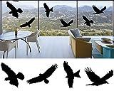 mural stickers ANTICOLLISIONE Adesivo Protezione per finestre - Uccello-Uccelli Silhouette di Allarme di Finestra Colision Uccello Adesivi Porta di Vetro Protezione Save Birds (7 Adesivi Diversi)