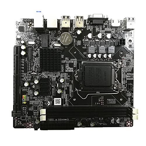 Zayaa Conector de Placa Base H81 LGA 1150 para Escritorio Intel LGA1150 I3 I5 CPU DDR3 Memoria VGA Placa Base de computadora Compatible con HDMI