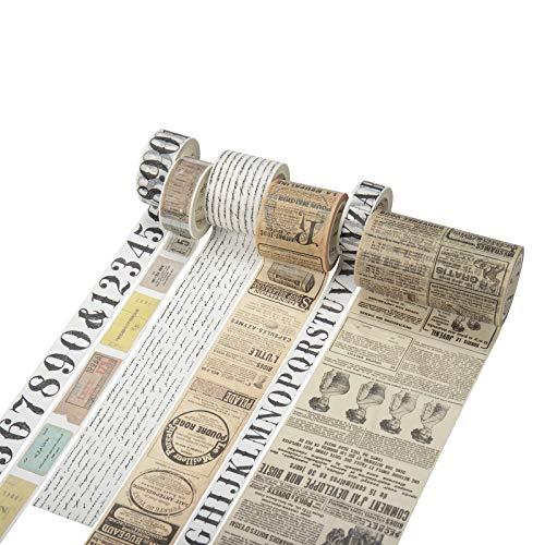 Iriisy Washi Tape Vintage Decoración Scrapbooking Diario Cinta Adhesiva DIY Crafts para álbumes de recortes envolver regalos manualidades