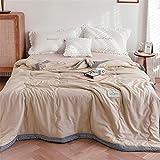 Chickwin Tagesdecke Bettüberwurf Gesteppt, Mikrofaser Tagesdecke Schlafzimmer Steppdecke Decke Überwurf Wohnzimmer Sofaüberwurf für Einzelbett Doppelbett (Beige Hahnentritt,200x230cm)