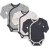 Mac & Moon Baby Bodysuit Set, 3-Pack Short...