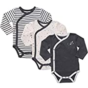 Infant Clothes Baby Kimono Side Snap Onesie Boy Long Sleeve Bodysuit 0-3 Months