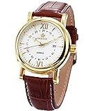 ORKINA ORK046–Reloj de Pulsera de Hombre, Correa de Piel Color marrón