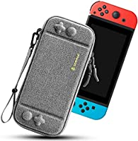 tomtoc Carry Case for Nintendo Switch, Ultra Slim Hard Shell with 10 Game Cartridges, Protective Carrying Case for...