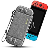 [Ultra Slim & Travel-friendly] This case is designed to fit your Nintendo Switch perfectly. Super thin and lightweight. An adjustable and removable hand strap allows comfortable holding or carrying. [10 Game Cartridges] A storage flap has 10 elastic ...