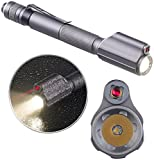 KryoLights Laser Lampe: 2in1-Profi-Pen-Light, LED-Taschenlampe & Laser-Pointer, 110 lm, 3 W (Presenter)