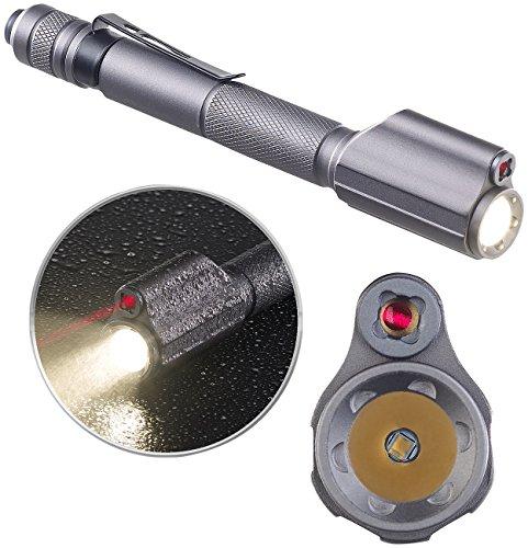 KryoLights Laserpointer: 2in1-Profi-Pen-Light, LED-Taschenlampe & Laser-Pointer, 110 lm, 3 W (Taschenlampe mit Laserpointer)